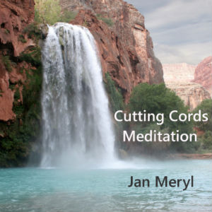 Spiritual Waterfall on cover of Cutting Cords Healing Meditation